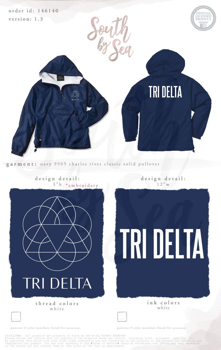 Delta Delta Delta   Tri Delta   Raincoat Design   Sorority Outerwear   Outift Ideas   Outfit Inspiration   South by Sea   Greek Tee Shirts   Greek Tank Tops   Custom Apparel Design   Custom Greek Apparel   Sorority Tee Shirts   Sorority Tanks   Sorority Shirt Designs