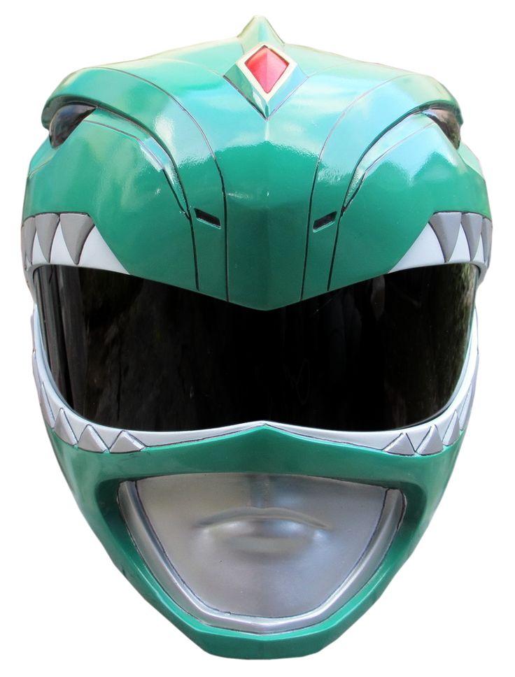 MMPR Green Ranger Helmet Render by RussJericho23.deviantart.com on @deviantART