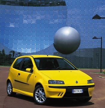 Fiat Punto Sporting. Not sure why we chose yellow, seemed like a good idea at the time