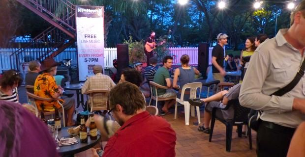 Check out a free concert/music scene at one of the pubs on Mitchell street or at Darwin's historic Brown's Mart.#NTAustralia