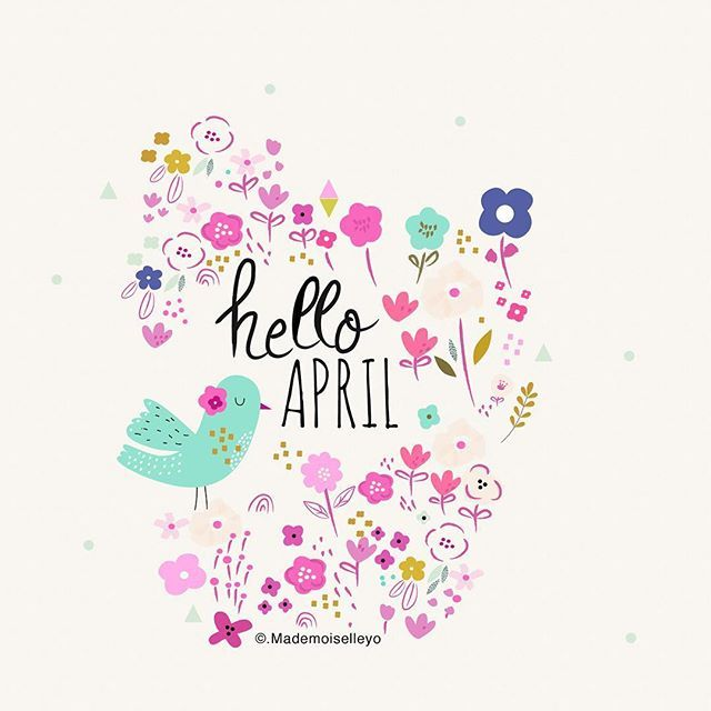 Hello April, enjoyed spring, have good time this month, new cards and posters on…