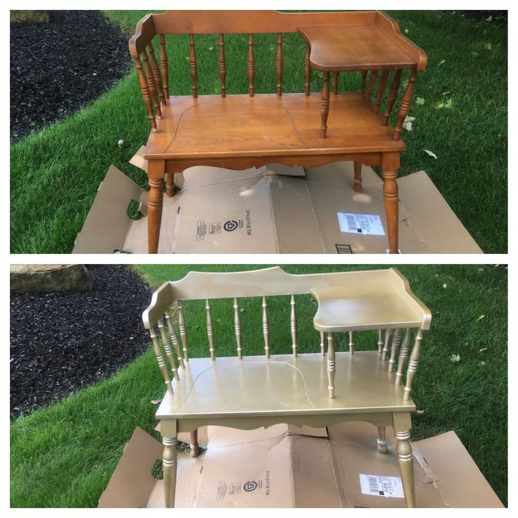 Spray painted this gossip bench gold for the maid of honor, my younger daughter, to sit in at her sister's bridal shower