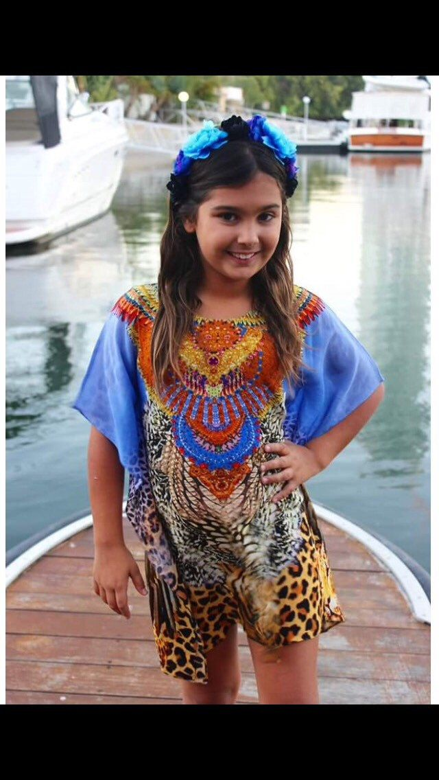A personal favourite from my Etsy shop https://www.etsy.com/au/listing/384404414/tiger-island-childrens-kaftan-size-4-8