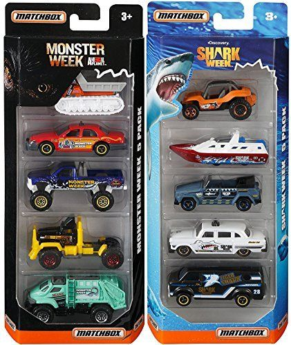 Matchbox Discovery Channel Shark Week & Monster Animal Planet Attack Set 5 Pack Cars / Boats & Trucks. #Matchbox #Discovery #Channel #Shark #Week #Monster #Animal #Planet #Attack #Pack #Cars #Boats #Trucks