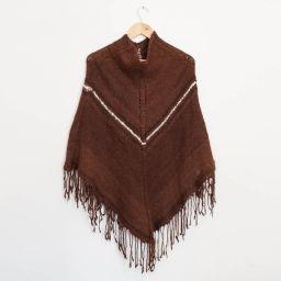 Poncho de lana de Alpaca.  Hecho en Chile