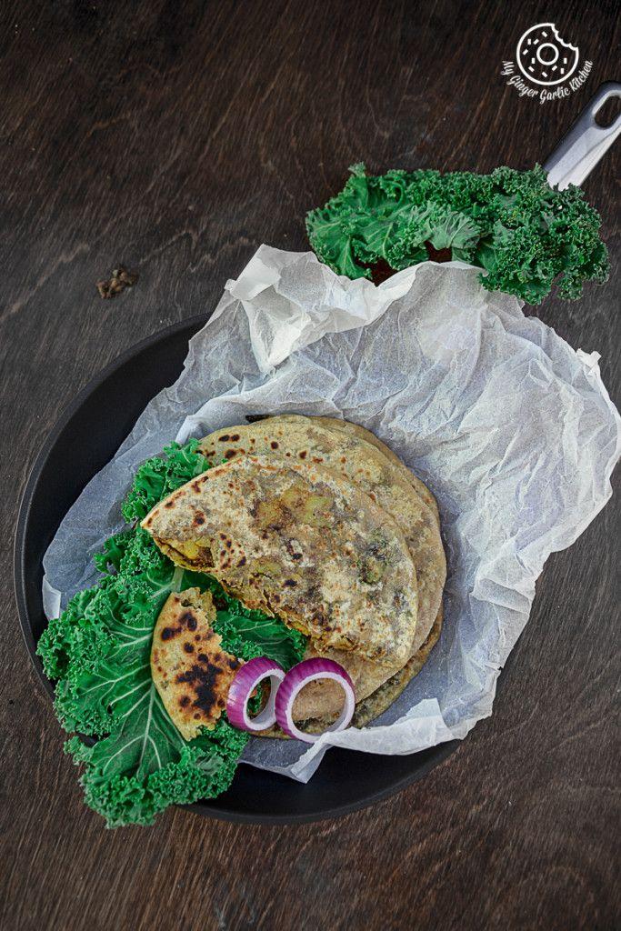 Mushroom Kale Stuffed Paratha | Video Recipe