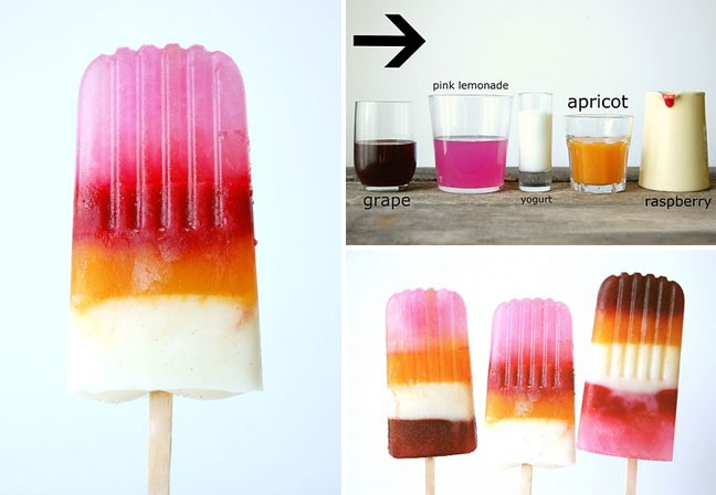 Striped Ice Pops | Food | Pinterest