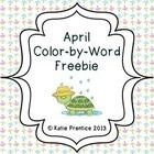 This freebie includes 6 different April coloring pages with sight word keys, similar to a color by number.    This are perfect for any primary class...