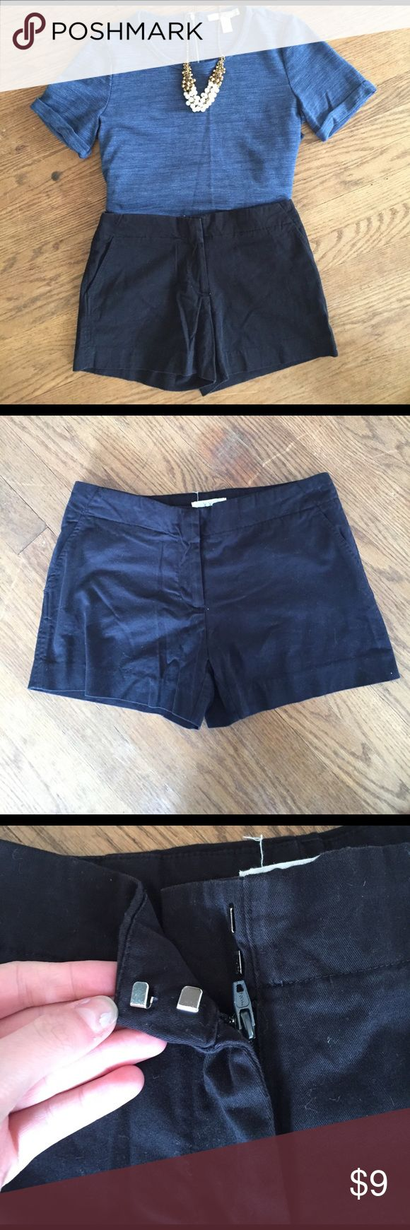 Black Khaki Shorts. Super cute black shorts that can be dressed up or down during the summer time. Only worn for one season. Forever 21 Shorts