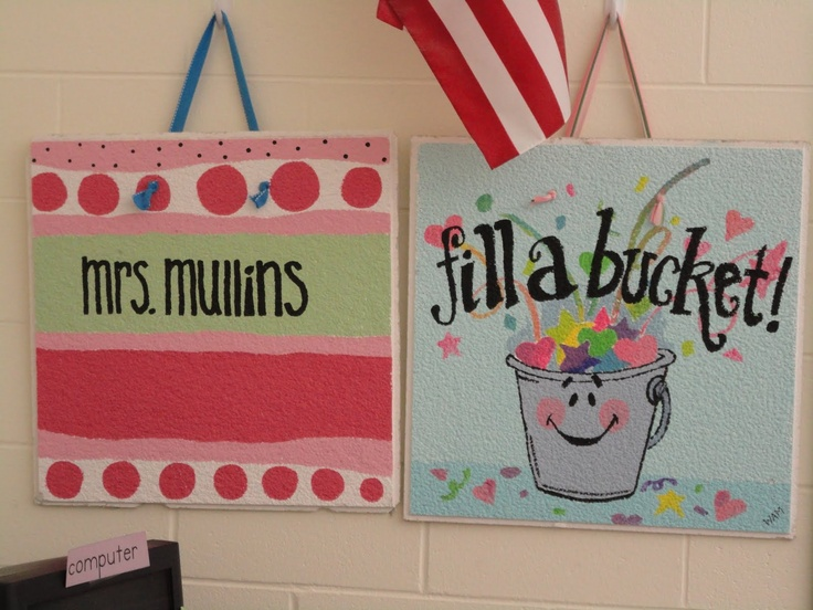 ceiling tile art-I have tiles in the basement...surely hubby won't miss them!