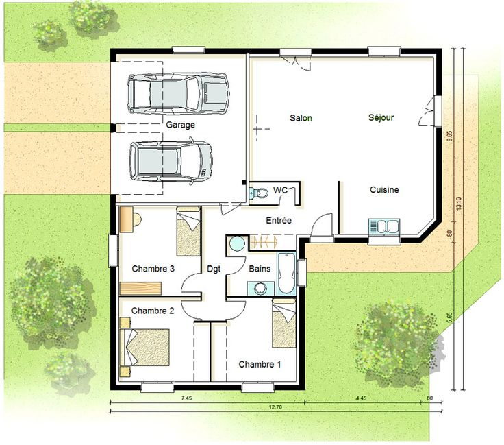 Célèbre 217 best Plan Maison images on Pinterest | Floor plans  RD43