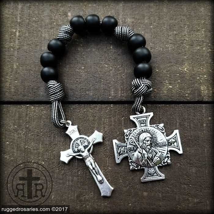 cf435a9d7b9 Begone Satan! Never tempt me with your vanities; for what you offer is  evil. St. Benedict Chaplet DEVIL CHASER Rosary for your pocket. #Catholic # Rosaries