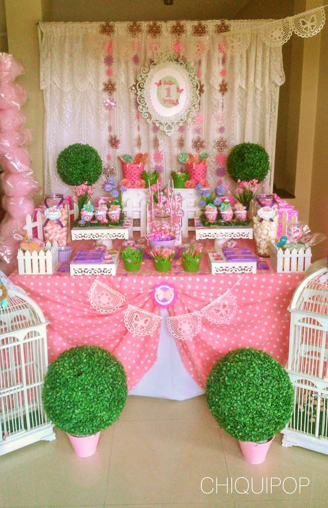 What a pretty butterfly garden birthday party! See more party ideas at CatchMyParty.com!