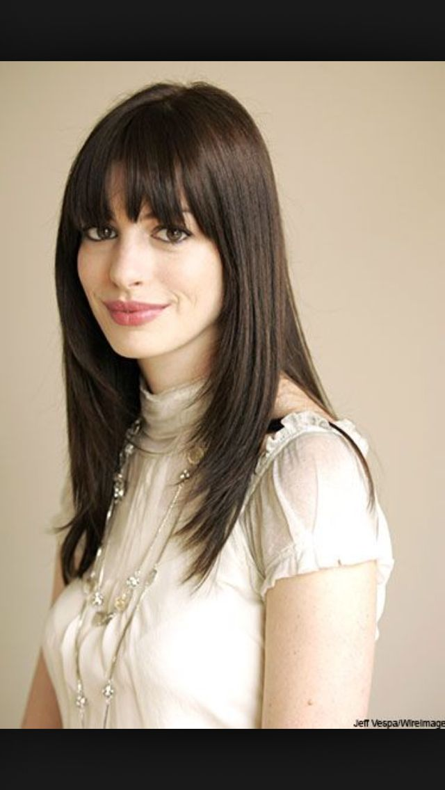 Best 25 Anne Hathaway Bangs Ideas On Pinterest Anne Hathaway Haircut Anne Hathaway Young And