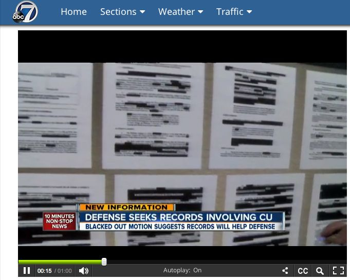 Evidence will help the defense!!!!!!!!!!!  http://www.thedenverchannel.com/news/movie-theater-shooting/attorneys-for-james-holmes-seek-records-from-mysterious-witness-both-sides-seek-to-protect