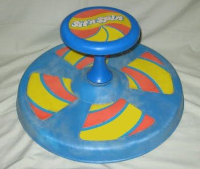 Sit and Spin! My top would always come off because they forgot to put the screw in under the sticker