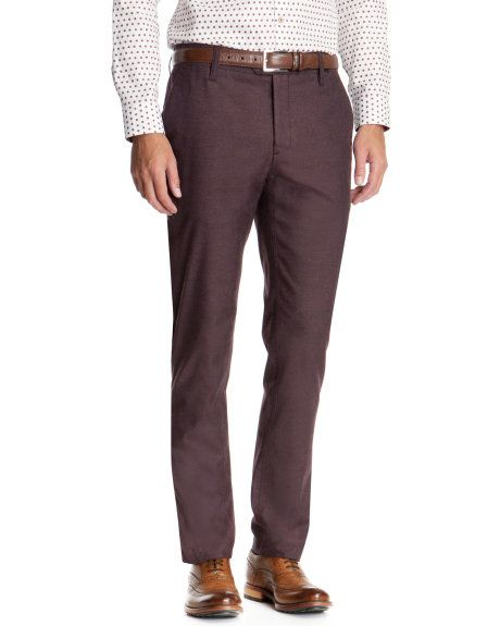 Slim fit brushed cotton chino - Purple | Trousers | Ted Baker UK