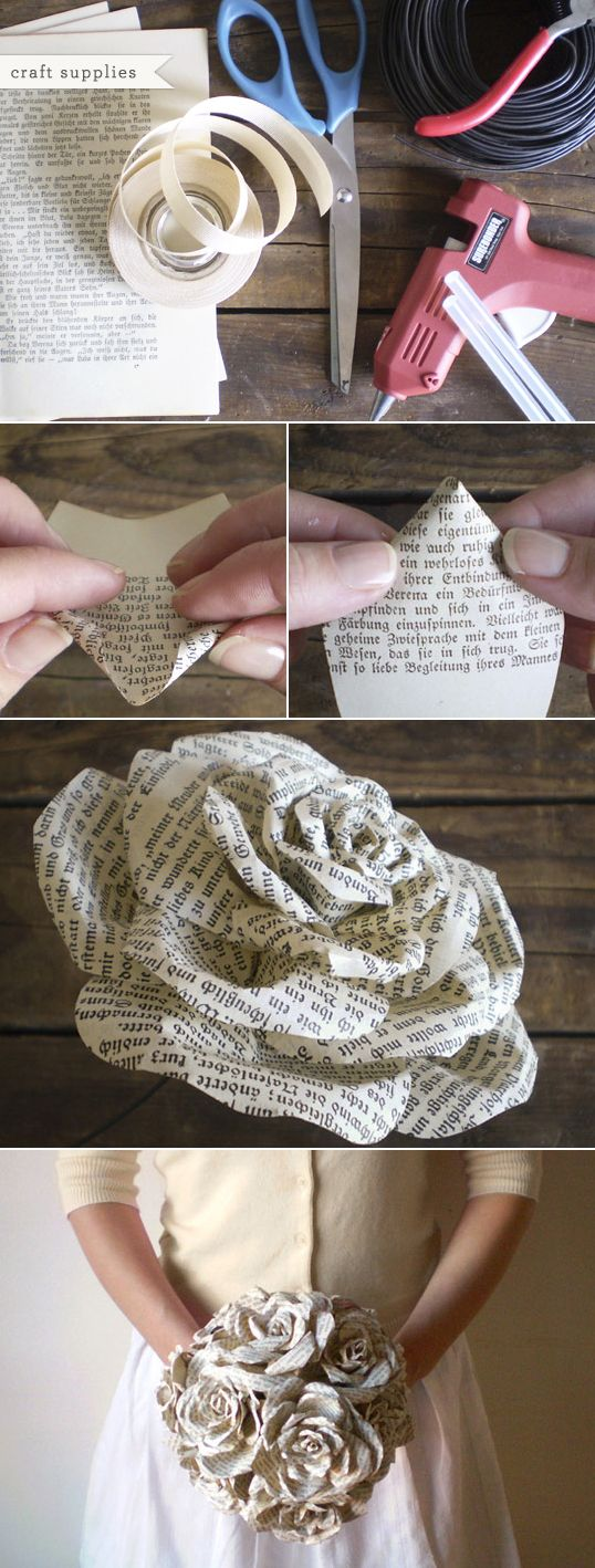 Sheet Music Instead Of A Book Storybook Paper Roses Bouquet It Would Killlll Me To Rip Apart For This But Is SUCH Cool Idea Cost Effective