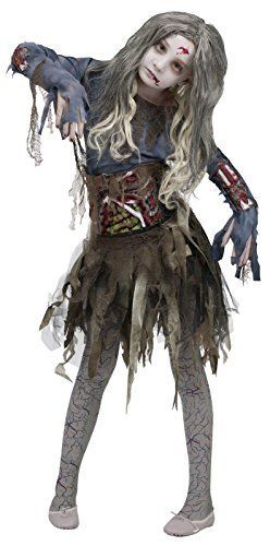 Zombie Halloween Costumes are currently very popular and  trendy costume choice for Halloween 2017. Especially true when it comes to both  scary, wicked, and sexy women's zombie Halloween costumes and men's Twisted,  creepy and spooky zombie Halloween Costumes. Although frightening kids zombie Halloween  costumes are also all the rage for Top Halloween Costume Ideas for Halloween  2017.      Zombie Girls Halloween Costume, Medium (8-10)