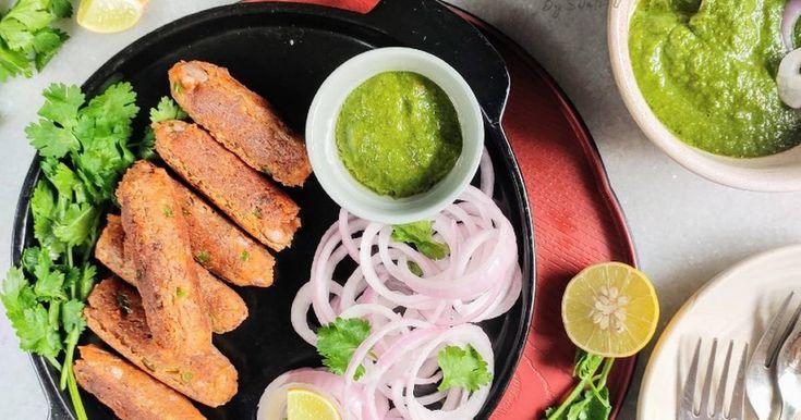 Masoor Dal Seekh Kebabs Recipe by Swati Bansal - Cookpad India in 2020 | Seekh kebabs. Kebab recipes. Seekh kebab recipes