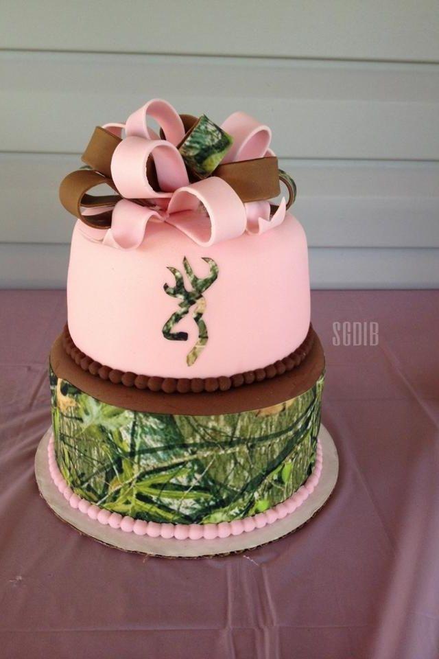 Pink Camo Wedding Cakes cakepins.com