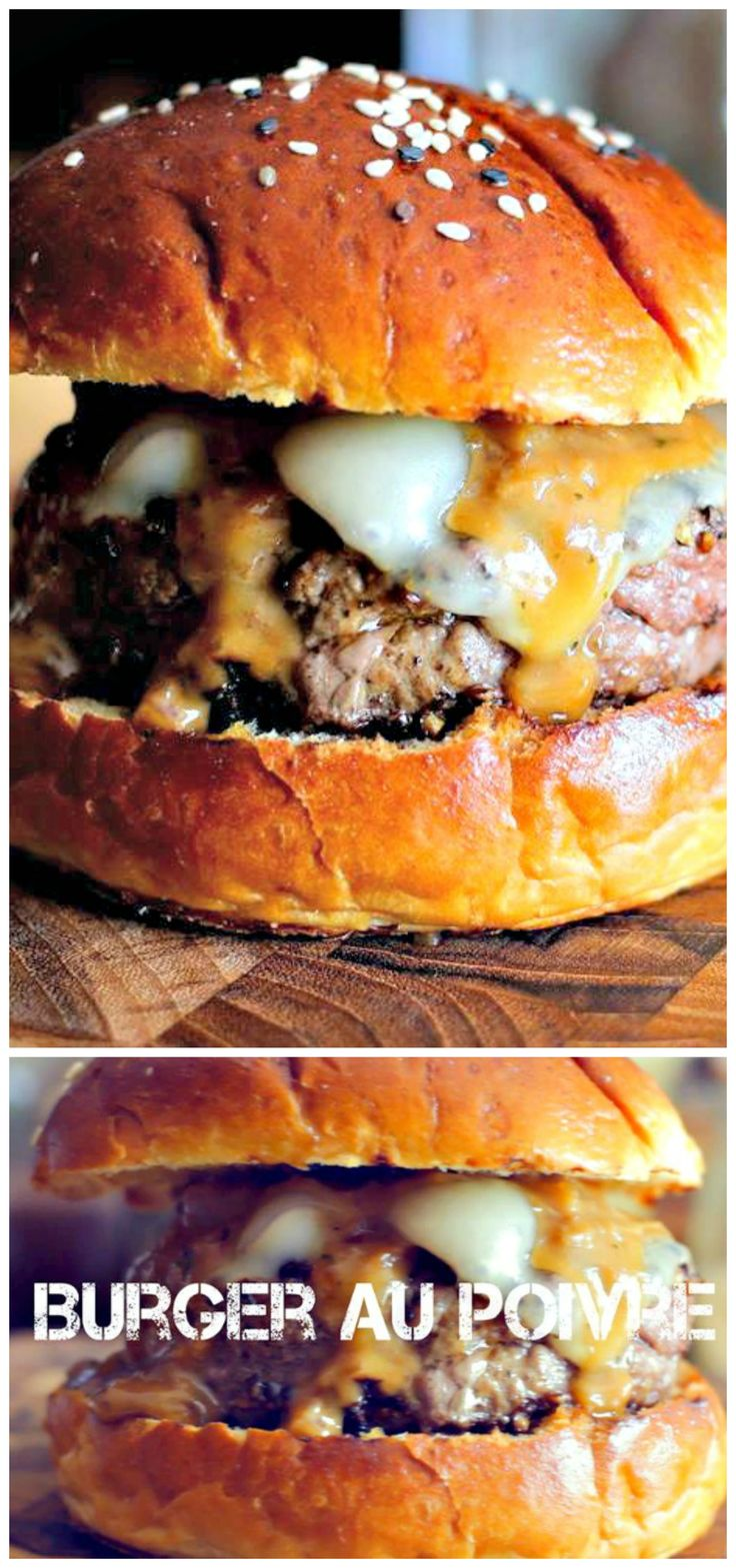 Burger Au Poivre - Turning this #French #classic into a #delicious burger. RT if you love burgers!