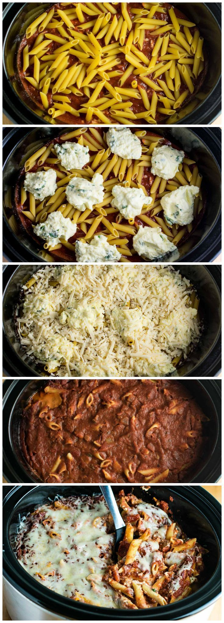 This Easy Crockpot Baked Ziti gets RAVE reviews. Everyone loves this when I make…