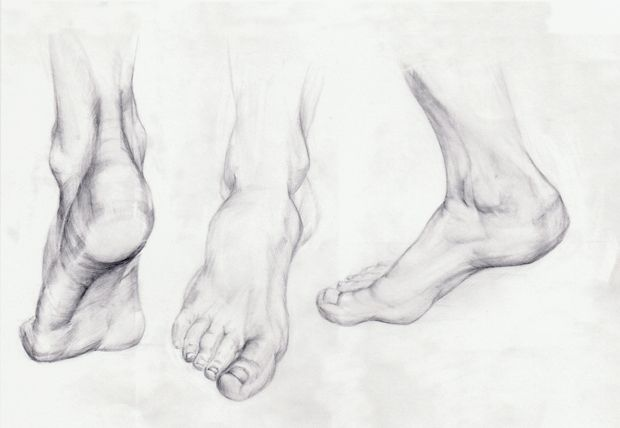 drawn feet | Uljana Egli: Hands & Feet