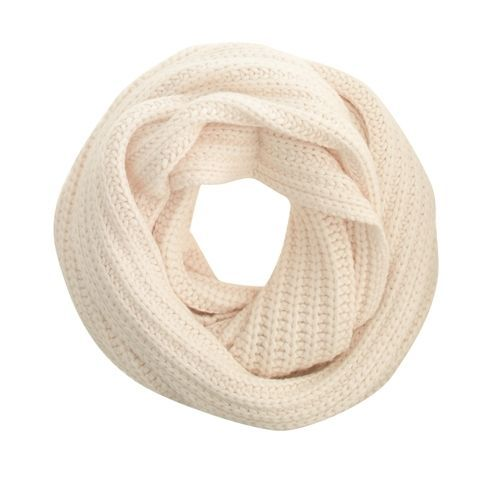 J Crew Chunky Ribbed Scarf One Size Antique White $65 NWT #JCrew #Scarf