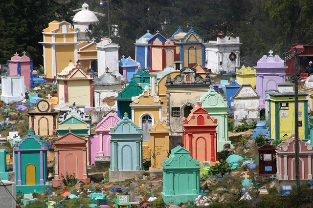 Colorful cemetary, Chichicastenango, Guatemala