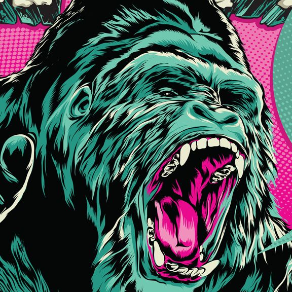 A roaring gorilla is what illustrators' dreams are made on Behance