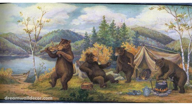 Wildlife Wallpaper Border  Home  Blue Mountain Bears