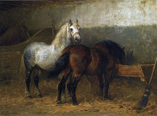 Horses in a Stable, Otto Eerlman @ Illusions Gallery ...