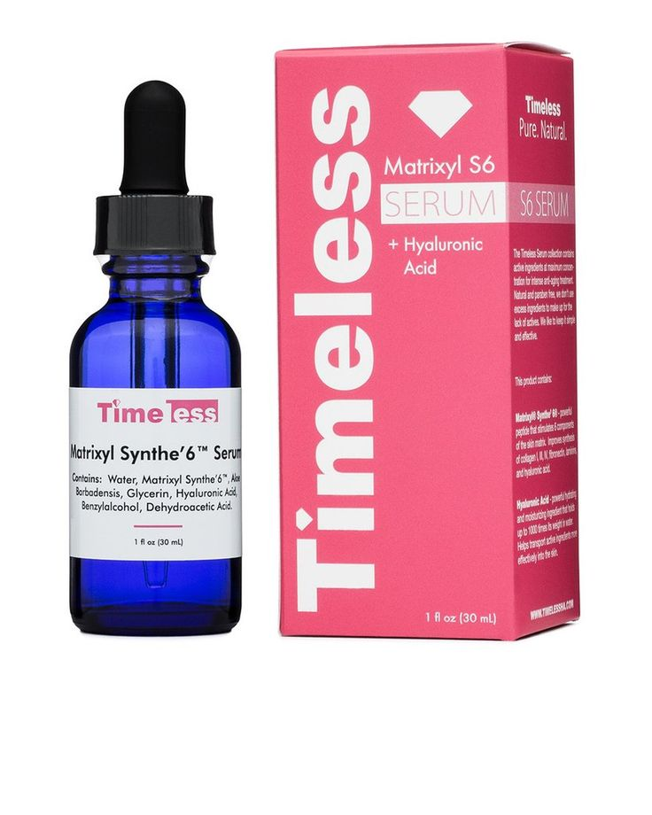 Matrixyl Synthe 6 Serum 1 oz | Organic Anti Wrinkle Complex & Skin Smoother - Timeless Skin Care