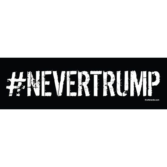 "[Bumper Sticker] - Never Trump | 10""x3"" Glossy Bumper Sticker"