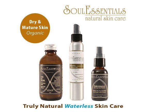 Organic Skincare Dry & Mature Skin Organic by SoulEssentialsSkin