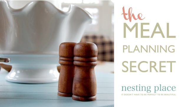 The Meal Planning Secret - Great tips and ideas!