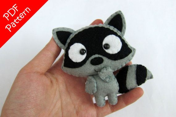Raccoon Plush PDF Pattern -Instant Digital Download