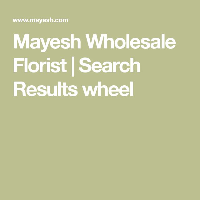 Mayesh Wholesale Florist | Search Results wheel