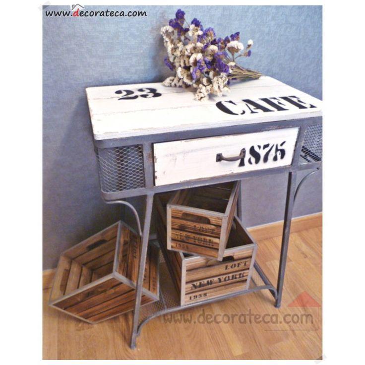 Mejores 99 im genes de muebles decorateca en pinterest - Recibidor industrial ...