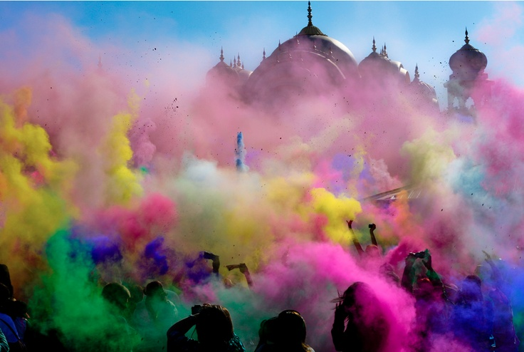 India in Holi Festival. Would love to experience this in India!