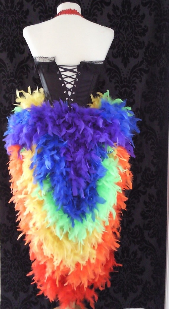 Tropical/Gay Pride Costume  Burlesque Moulin by CherryRock on Etsy, $180.00