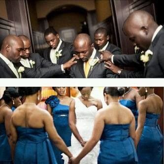 Black Love - prayers over the bride and groom because we understand the third partner in every successful marriage is God.