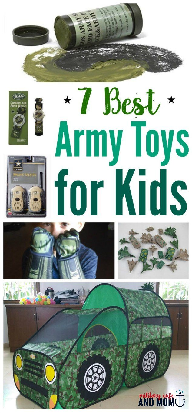 7 Best Military Toys For Kids That Will Encourage Imagination And Creativity Military Wife Mom Military Life Pinterest Army Family Military Gifts
