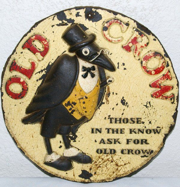 Antique Old Crow Whiskey Advertisement