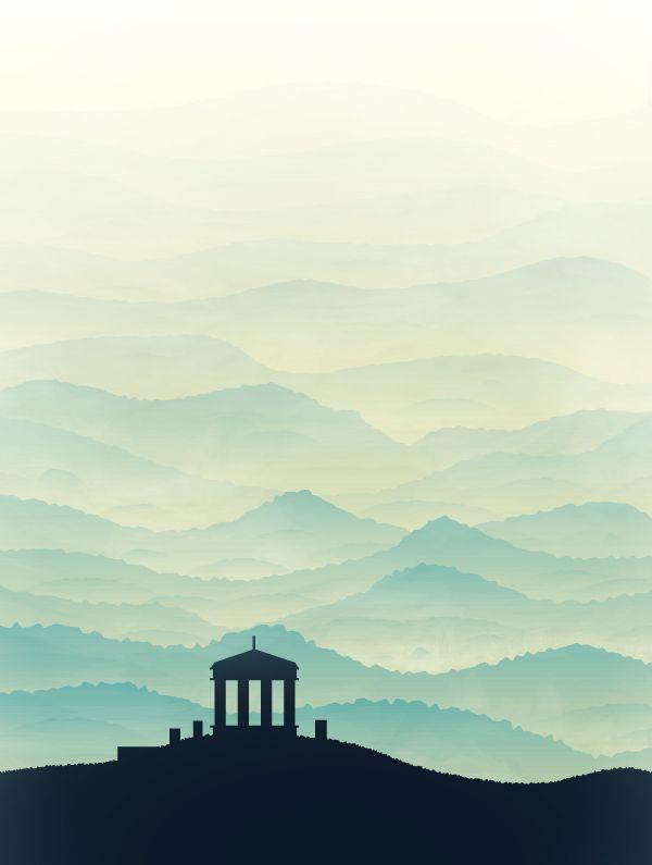 create a hill scene using gradients in adobe illustrator in 2018 rh pinterest com