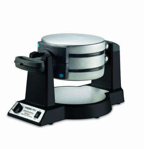 Waring Pro WWM1200SA Double Belgian-Waffle Maker, Black - http://sleepychef.com/waring-pro-wwm1200sa-double-belgian-waffle-maker-black/