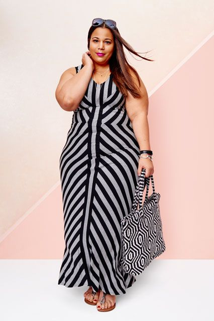 MUST HAVE THIS DRESS.  Exclusive: Every Pic From Target's New Plus Line, AVA & VIV #refinery29  http://www.refinery29.com/2015/01/81102/target-plus-size-lookbook-ava-viv#slide-2  Chastity Garner wears a $34.99 maxi dress.
