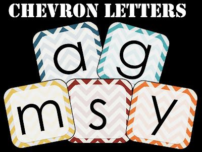 "FREE - chevron letters, striped letters, polka dot letters (two styles), and black/white letters...this is fantastic!!!!! Originally made for a ""boggle board"", to get a sense of the size."