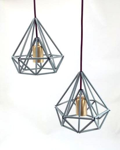 Himmeli light Cage pendant lamp industrial metal minimal table lamp light geometric minimal mint on Etsy, $90.00